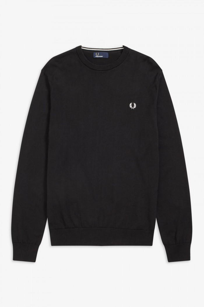 Pull Fred Perry Classic Crew Neck Black K5523 102