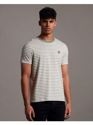 T-shirt Lyle & Scott TS1222V W438 stripe ringer lemon mid grey marl