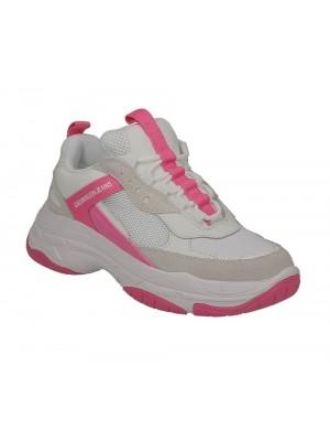 Calvin Klein Jeans dame Maya White Pink Fluo B4R0802 103