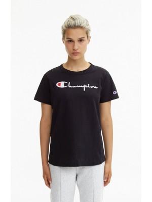 T-shirt wmns Champion big logo Crewneck 110992 S18 KK001 NBK Black Europe Limited Edition